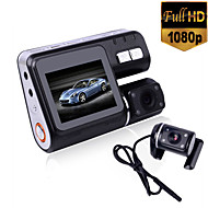 i1000 HD 1080P Dual Lens Camcorder Car DVR Dash Cam Black Box With Rear View Camera