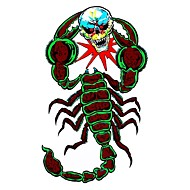 DIY Series Evil Scorpion Battles Skull Pattern Design PVC Decoration Sticker for Car and Others