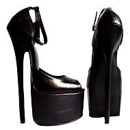 女性の靴は、セクシーなピープトウスチレットヒールの革は、より多くの色利用できるパーティーの靴パンプス