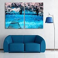 e-Home® venytetty kankaalle art kirsikankukkia sisustusmaalaus sarja 2
