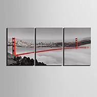 e-HOME estiró arte determinado de la pintura de la decoración puente de lona de 3