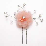 Women's/Flower Girl's Rhinestone/Alloy/Imitation Pearl/Chiffon Headpiece - Wedding/Special Occasion Hair Pin