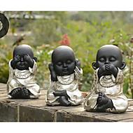 No Evil Cute Monk Decoration ,Resin