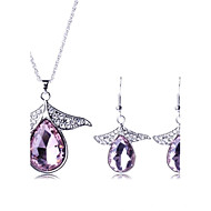 Women's Fashion Crystal Drop Jewelry Sets Including Necklace&Earring(More Colors)
