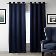 Blackout Modern Solid Curtain (One Panel)