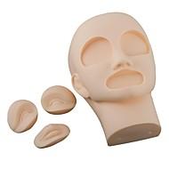 3D 영구 화장 연습 마네킹 머리 (2PCS 눈 + 1 개 입술을 포함)