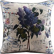 bomull / linne tryckt dekorativt kuddöverdrag