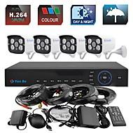YanSe® 4CH 960H 1000TVL CCTV DVR Kit IR Camera Color Waterproof Security Cameras System 3.6mm 720CF04