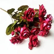 10 מזלג טווס בסגנון אירופאי עלה פרח סימולציה