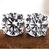 Stud Earrings Men's/Women's Alloy Earring Cubic Zirconia