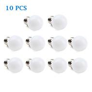 1W E26/E27 LED Globe Bulbs 12 SMD 3528 30 lm Warm White / Cool White AC 220-240 V 10 pcs