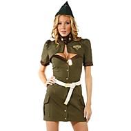 Hot Girl Green Pilot Uniform