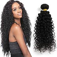 24inches βραζιλιάνα σγουρά μαλλιά παρθένα μη επεξεργασμένα Βραζιλίας kinky σγουρά παρθένα naturl μαλλιά μαύρο 1pcs / lot