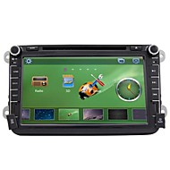 Rungrace 8-inch 2 Din TFT Screen In-Dash Car DVD Player For Volkswagen With Bluetooth,Navigation GPS,RDS,DVB-T,IPOD