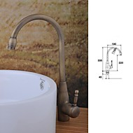 Contemporary Centerset Single Handle One Hole in Antique Copper Bathroom Sink Faucet