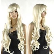 excelente luz peruca loira cosplay das mulheres longas extral com estrondo lado