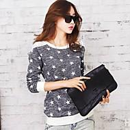Vrouwen Print T-shirt Ronde hals,Lange mouw,Polyester