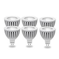 IENON® 6pcs GU5.3 5W 400-450LM 3000K Warm White Light LED Spot Blub(AC12V)