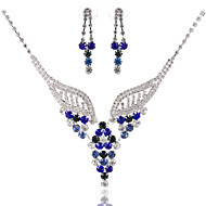 Fashion Ladies'/Women's Alloy Wedding/Party Jewelry Set With Multicolor Rhinestone