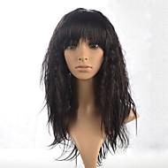 bouclés longue perruque de cheveux Bang complet de dame capless