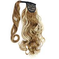 uitstekende kwaliteit synthetische 20 inch lang krullend clip in paardenstaart haarstukje