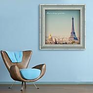 Architecture / Famous Framed Canvas / Framed Set Wall Art,PVC Dark Blue No Mat With Frame Wall Art