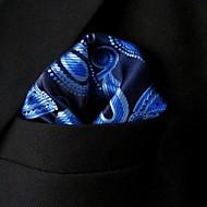 azul pañuelo de seda estampado floral ocasional de los hombres