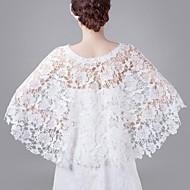Spring and Summer White Openwork Bride Wedding Shawl Thin Section