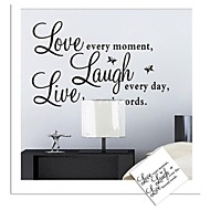 Wall Stickers Wall Decals, Live Love English Words & Quotes PVC Wall Stickers