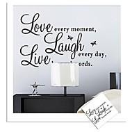 pegatinas de pared de tatuajes de pared, live love palabras inglesas&cita pegatinas de pared del pvc