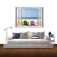 3D samolepky na zeď na stěnu, plážové rekreace dekor vinylové samolepky na zeď