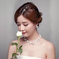 Women's Titanium/Imitation Pearl Jewelry Set Imitation Pearl/Rhinestone