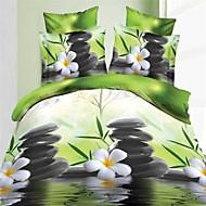 3D Mode komfortable Blumendruck Bettwäsche vier Stück