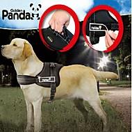 Dog Harness Adjustable/Retractable / Padded Red / Black Nylon