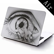 מקרה עיצוב ציור עין גוף מלא מגן פלסטיק עבור 11 אינץ '/ מיזוג ספר מק חדש 13 אינץ'