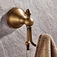 Percha, latón antiguo montado en la pared, accesorios de baño