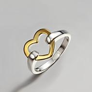 Verighete Plastic Placat Auriu Heart Shape La modă Declaratie de bijuterii Auriu/Argintiu Bijuterii Petrecere 1 buc