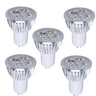 5pcs GU5.3 5W 350-400LM 6000-6500K Cool White Color Light LED Spot Bulb(85-265V)