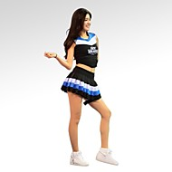 Cheerleader Costumes Outfits Women's Performance / Training Cotton / Polyester Sleeveless Natural 70CM