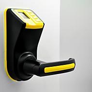 Tek mandalı parmak izi parmak izi + şifre + mekanik anahtar ls-9-sarı ve siyah yüklemek için adel kolay