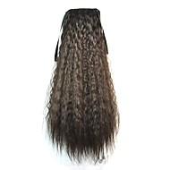 Tie Long Women Corn Roll Wavy Ponytails (Natural Black)