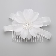 Women's/Flower Girl's Cubic Zirconia/Organza Headpiece - Wedding/Special Occasion Hair Combs