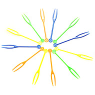 Colorful Disposable Plastic Fruit Forks,Random Color,4000Pcs/set