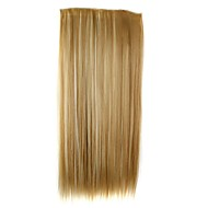 24 Inch 120g Long Synthetic Straight Clip In Hair Extensions with 5 Clips Hair Piece