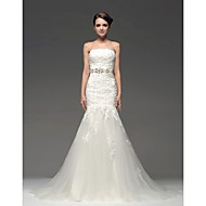 Fit & Flare Wedding Dress Floor-length Strapless with