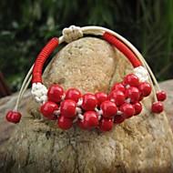 JSM Women's Grapes Style Handmade Garnet Bracelet (More Colors)