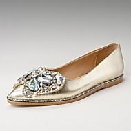 נעלי נשים - שטוחות - סוויד - נוחות / שפיץ - כסוף / זהב - משרד ועבודה / שמלה - עקב שטוח