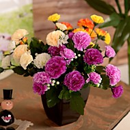 "11.8""L Set of 1 Cozy 7 Limbs Carnation Silk Cloth Flowers"