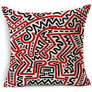 estilo moderno abstrato símbolo modelado algodão / linho cobertura decorativa travesseiro