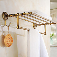 Towel Bar Antique Copper Wall Mounted 600*250*80mm(23.62*9.84*3.14inch) Brass Antique